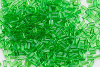 green transparent plastic polymer resin