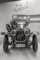 Museum of August Horch in the town of Zwickau - Front of an Oldtimer