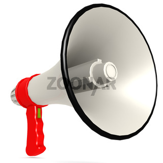 Isolated red megaphone
