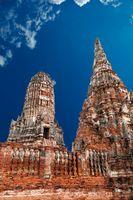Old Temple Wat Chai watthanaram in Ayuttaya Thailand