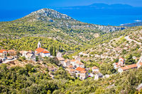 Village of Velo Grablje on Hvar island landscape view