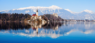 Church of the Assumption on Lake Bled