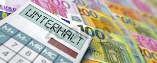 Unterhaltskosten berechnen