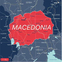 Macedonia country detailed editable map