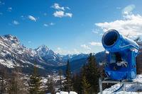 Snow Gun at Italy mountains