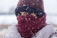 sad woman freezes