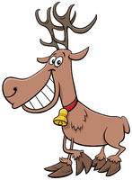 cartoon reindeer Christmas holiday character