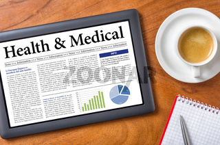 Tablet on a desk - Health and Medical