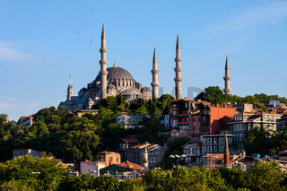 Suleymaniye Mosque and Traditional Houses in Istanbul