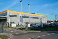 Distribution warehouse of the online mail order company Amazon in an industrial park in Magdeburg