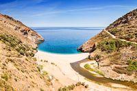 The beach Agios Dimitrios in Evia, Greece