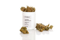 Medical marijuana in prescription bottle.