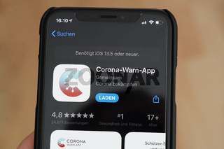 Corona-Warn-App im iPhone App Store