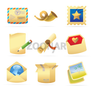 Icons for postal services