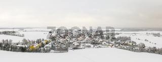 Blick über Königerode im Winter