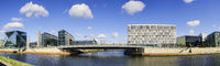 River Spree in front of Main Station, Berlin, Germany
