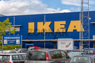 Facade IKEA Store with car parking in front