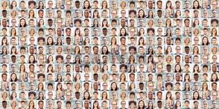 Panorama Portrait Collage von Business Team