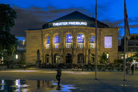 Theater Freiburg on a summer evening,  South Germany