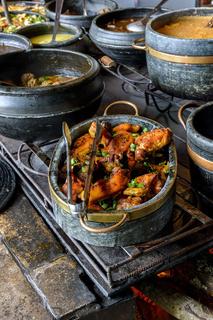 Traditional Brazilian food and old wood stove