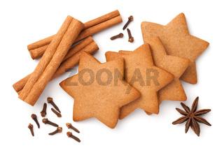 Gingerbread Star Cookies With Cinnamon Sticks