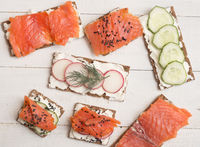 Canapes and sandwiches