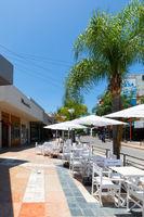Argentina Villa Carlos Paz open air restaurant