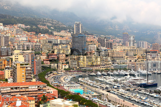 View of building in Monte Carlo.
