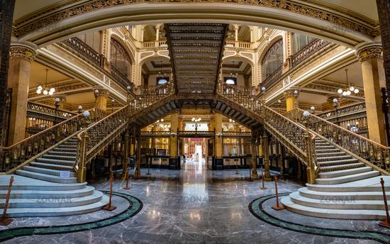 The Palacio de Correos de Mexico or Postal Palace of Mexico City