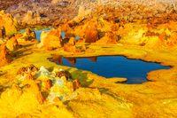 Colorful ponds of Dallol desert, Ethiopia