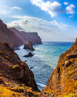 The west coast of the island of Madeira