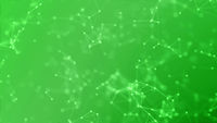 Blockchain network technology futuristic abstract green background.