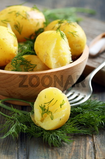 New potatoes with dill.