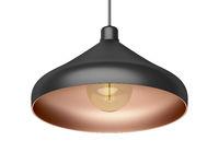 Modern pendant lamp with LED bulb