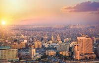 Sunny sunset in Cairo