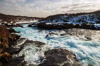 Midfoss waterfall, Iceland