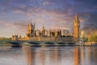 Big Ben and the Houses of Parliament at dawn