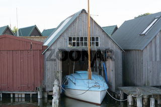 Shed, boathouse on the water