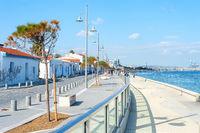 People walking,embankment, Larnaca, Cyprus