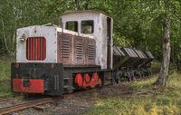 Mining railway for slate transport