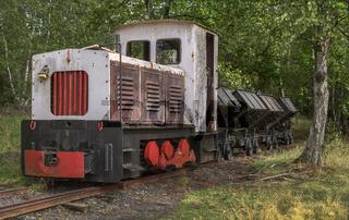 Bergwerksbahn fuer den Schiefertransport