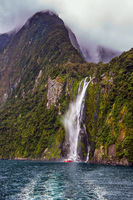 Tourist cruise aboard the Milford Sound fjord