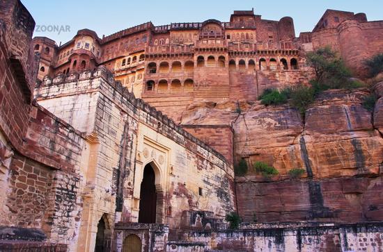 Interior of Mehrangarh Fort, Jodhpur, Rajasthan, I