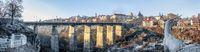 Novoplanovsky bridge in Kamianets-Podilskyi, Ukraine