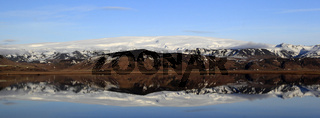 Panorama des Myrdal Jökull Gletschers, Island