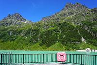 Vermunt reservoir in Austria, Montafon, Europe