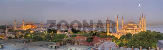 Istanbul skyline at dusk