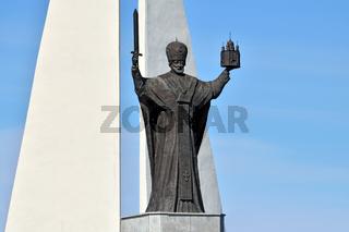 Monument to St Nicholas The Wonderworker. Kaliningrad, Russia
