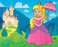Princess with umbrella theme image 2
