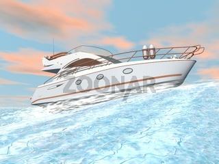 Speedy yacht - 3D render